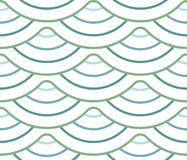 与波浪线,条纹的抽象几何样式 无缝的传染媒介背景 米黄和白色装饰品 免版税图库摄影