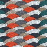 与波浪装饰品的无缝的样式 库存照片