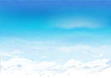 与波纹的海水 免版税图库摄影