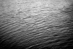 与波纹b&w的水 免版税库存图片