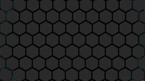 与波能exploid的动画的抽象背景 技术背景 无缝的圈的动画 库存例证