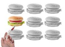 与注射器的修改过的三明治 免版税库存图片
