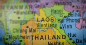 与泰国国家地区地图的地球 影视素材
