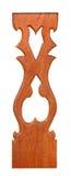 与泰国样式样式艺术的被雕刻的唯一木栅格结构 库存图片