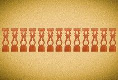 与泰国样式样式艺术的被雕刻的木栅格结构在泰国 免版税库存图片