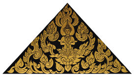 与泰国样式的泰国女性天使油漆 库存照片
