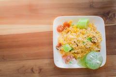 与泰国的炒饭 免版税库存图片