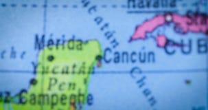 与洪都拉斯国家地区地图的地球 影视素材