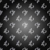 与浅灰色的无缝的装饰品样式在深灰背景 免版税库存照片