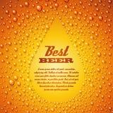 与浓缩的水珍珠的啤酒。 库存例证
