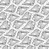 与海壳的传染媒介无缝的样式 免版税库存图片