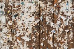 与海报遗骸的老横幅区域 库存图片