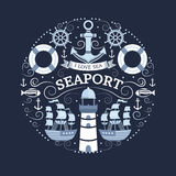 与海标志的概念 库存图片