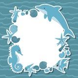 与海洋生物的海运背景 免版税图库摄影
