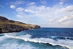 与海湾的美丽如画的海风景 马略卡 免版税库存照片