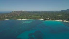 与海滩和海的海景 菲律宾,吕宋 免版税图库摄影