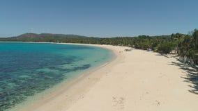 与海滩和海的海景 菲律宾,吕宋 库存图片