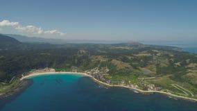 与海滩和海的海景 菲律宾,吕宋 库存照片