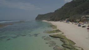 与海滩的海景 股票视频