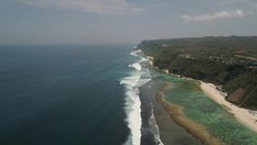 与海滩的海景 股票录像