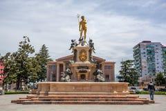 与海王星喷泉的方形的看法在巴统,乔治亚- 14 05 201 库存图片