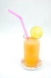 与海草混和的橙汁 免版税库存图片