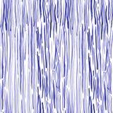 与海草的手拉的无缝的水彩样式 库存照片