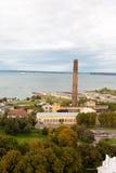 与海运的Tallin视图 库存照片