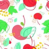 与海鼠李莓果和樱桃的图象的样式 图库摄影