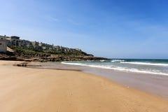 与海滩的风景 免版税库存照片