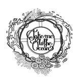 与海洋设计的Lifebuoy 库存例证