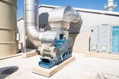 与涡轮的废处理管道系统 图库摄影