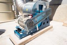 与涡轮的废处理管道系统 免版税库存图片