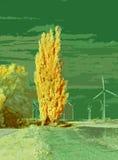 与涡轮的风景 免版税库存图片