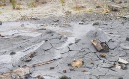 与液体和固体物料- Baratang海岛,安达曼尼科巴群岛,印度放射的泥火山  库存照片
