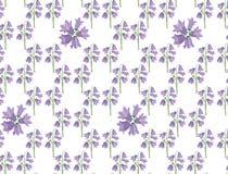 与淡紫色会开蓝色钟形花的草的无缝的纹理 免版税图库摄影