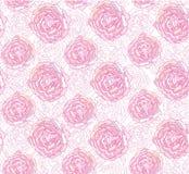 与淡紫色概述花的无缝的纹理 库存照片