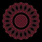 与深红花花圈的贺卡在轻的黑色 图库摄影