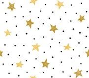 与混乱小点和星的无缝的样式 皇族释放例证