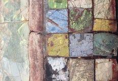 与混乱样式,无缝的背景照片纹理的五颜六色的石马赛克 库存图片