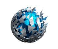 与混乱结构的低多球形 向量例证