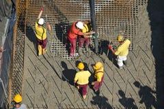 与混凝土泵的Concreting 库存图片