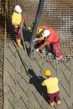 与混凝土泵的Concreting 免版税图库摄影