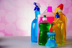 与清洁材料的清洁题材 免版税库存图片