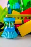 与清洁材料的清洁题材 库存照片