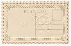 与渐近1900's的鞋带的空白的葡萄酒明信片 库存图片