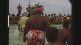 与游人的小组渔 影视素材