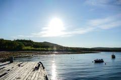 与湖和云彩的风景,在瑞典斯堪的那维亚北部欧洲 免版税库存图片