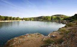 与湖的风景 库存图片
