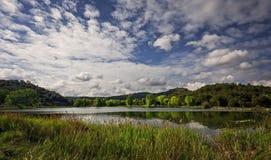与湖的风景 免版税图库摄影